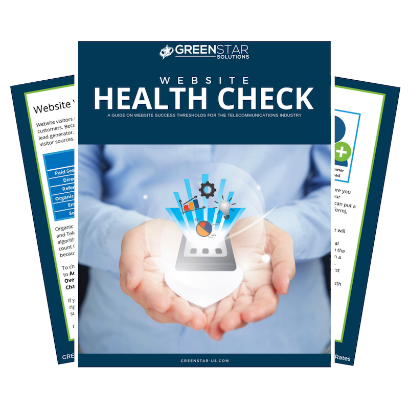 Website Health Check eBook - Developed for the Telecommunications Industry for netsapiens User Group Meeting