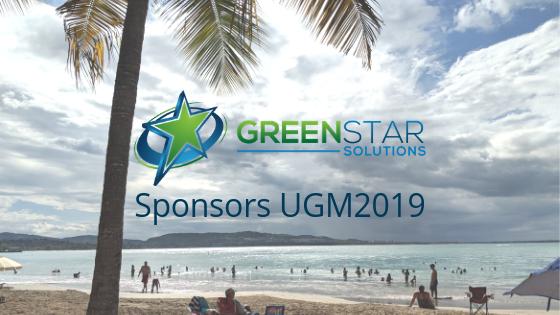 GreenStar Sponsors UGM2019 - San Juan PR Beach