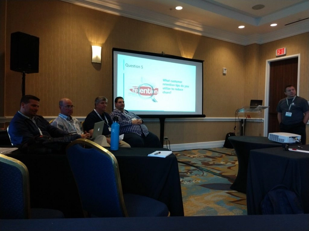 Effective Selling Strategies Panel with (left to right) Damon Finaldi of TeleCloud, Ben Humphreys of Comtel, Nicky Smith of Carolina Digital, and Ray Orsini of Orsini IT. Moderator: Dave George