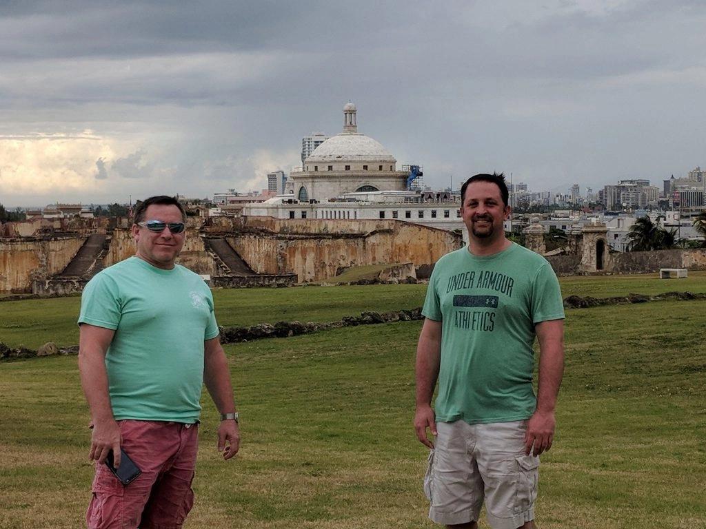 Dave and Pete at the San Juan Fort San Cristobal